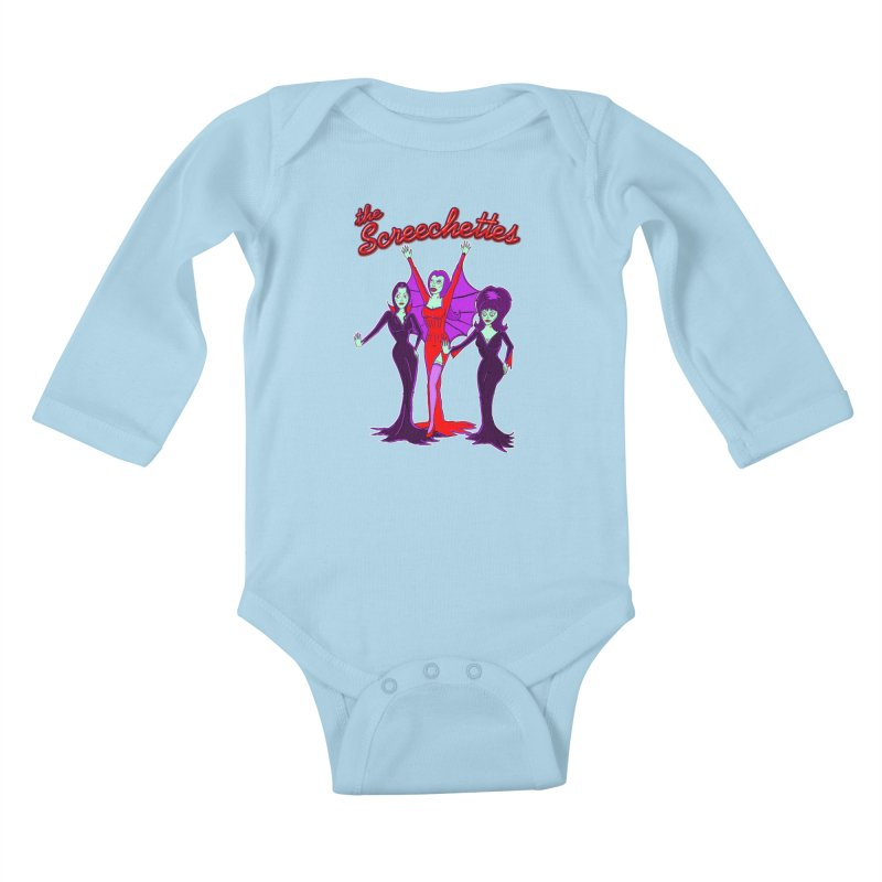 The Screechettes Kids Baby Longsleeve Bodysuit by John D-C's Artist Shop