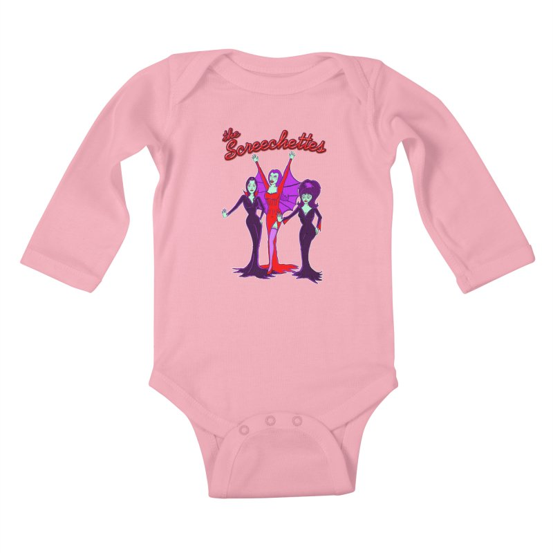 The Screechettes Kids Baby Longsleeve Bodysuit by John D-C's Artist Shop