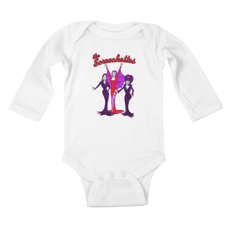 The Screechettes Kids Baby Longsleeve Bodysuit by John D-C