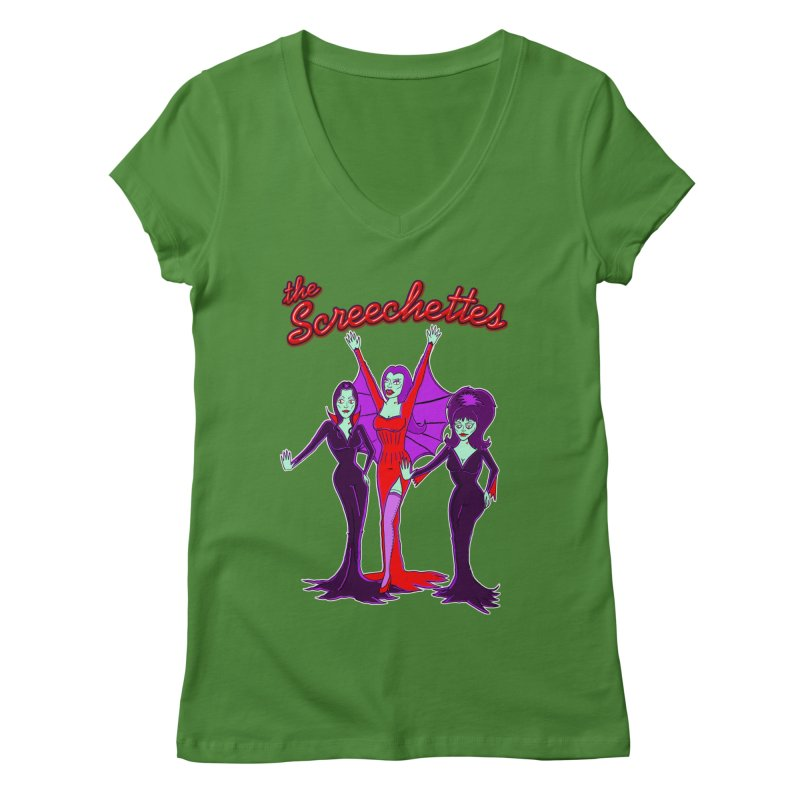 The Screechettes Women's Regular V-Neck by John D-C