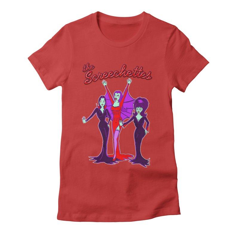 The Screechettes Women's Fitted T-Shirt by John D-C