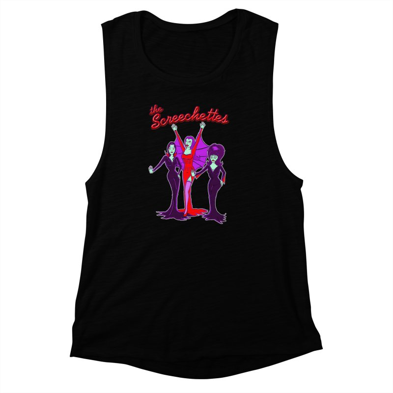 The Screechettes Women's Muscle Tank by John D-C's Artist Shop