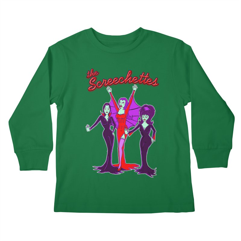 The Screechettes Kids Longsleeve T-Shirt by John D-C's Artist Shop