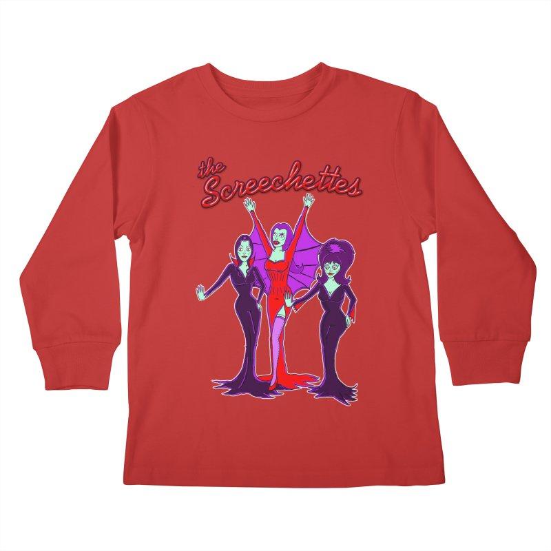 The Screechettes Kids Longsleeve T-Shirt by John D-C's Artist Shop