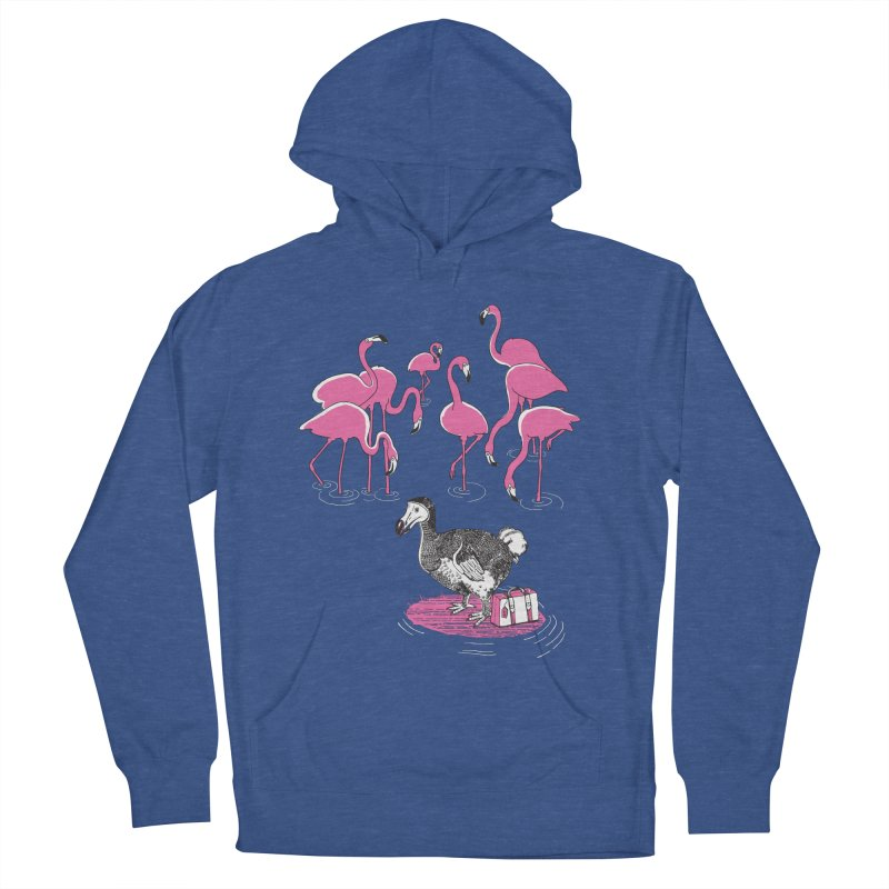 and the Flamingoes Celebrated Women's Pullover Hoody by John D-C's Artist Shop