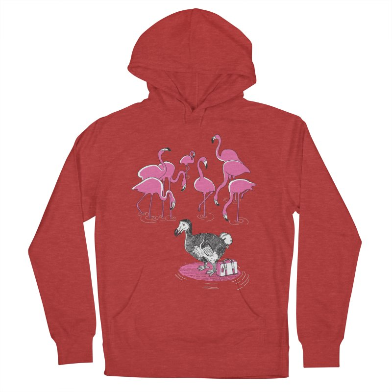and the Flamingoes Celebrated Men's French Terry Pullover Hoody by John D-C's Artist Shop