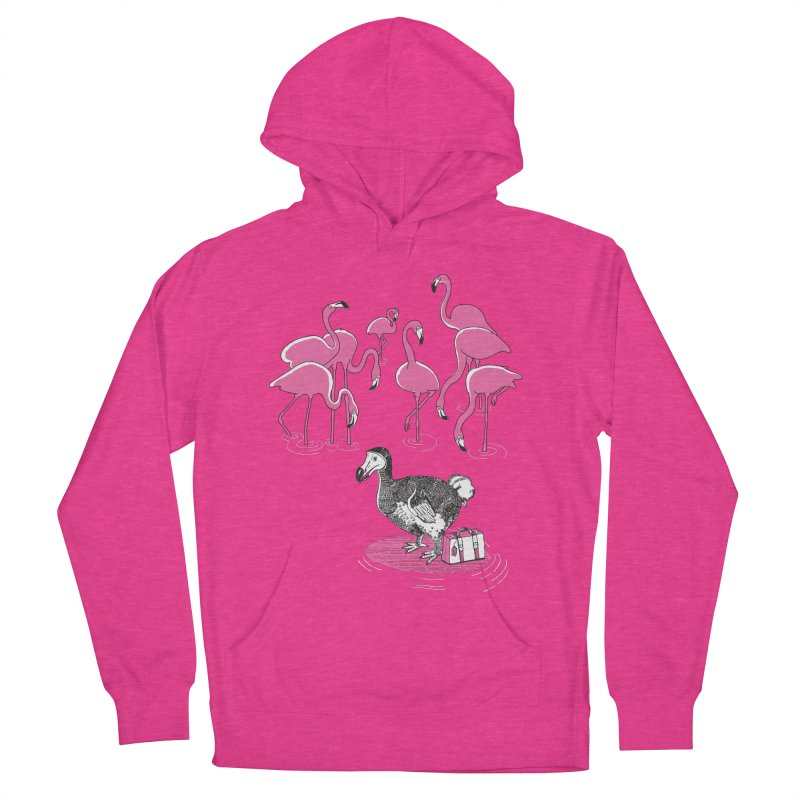 and the Flamingoes Celebrated Men's Pullover Hoody by John D-C's Artist Shop