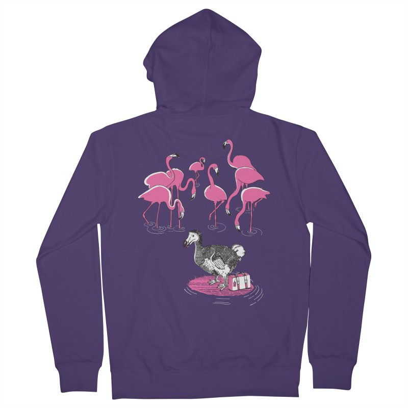 and the Flamingoes Celebrated Women's French Terry Zip-Up Hoody by John D-C