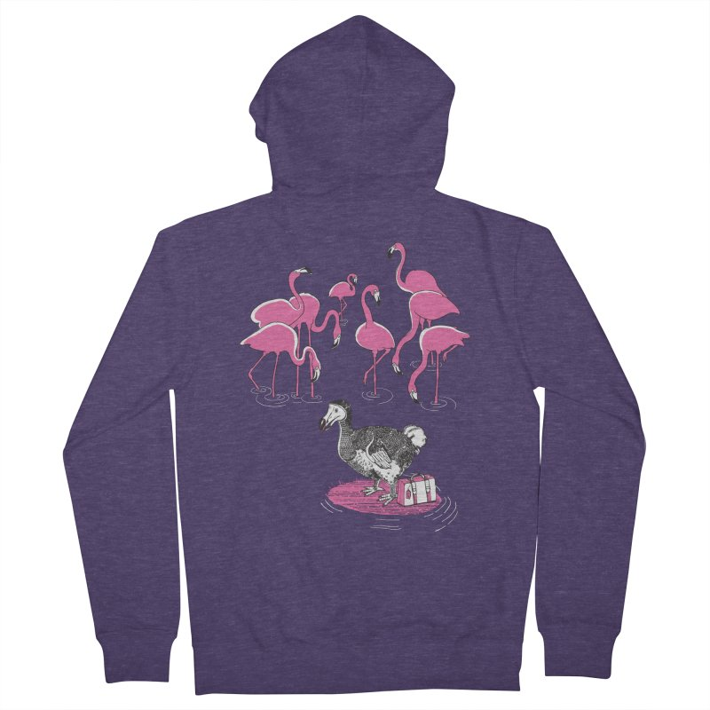 and the Flamingoes Celebrated Men's Zip-Up Hoody by John D-C's Artist Shop
