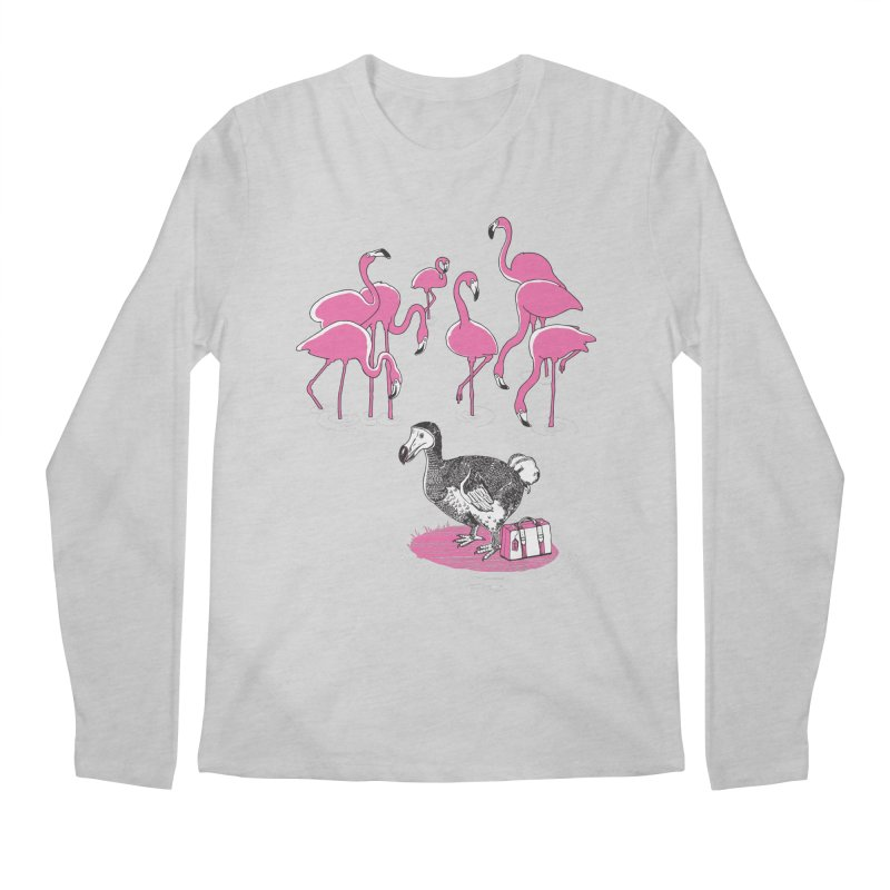 and the Flamingoes Celebrated Men's Longsleeve T-Shirt by John D-C's Artist Shop