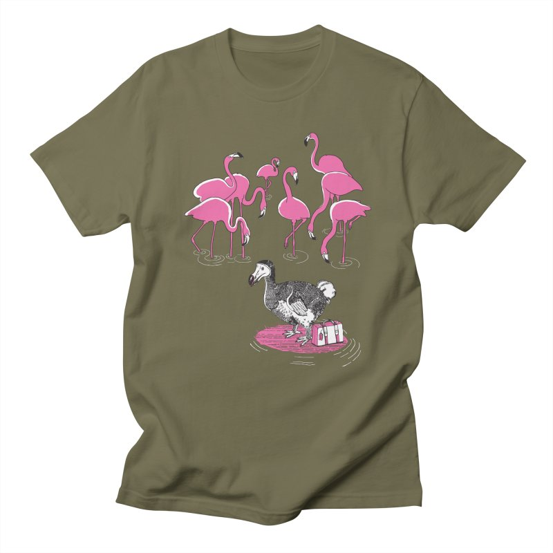 and the Flamingoes Celebrated Men's Regular T-Shirt by John D-C's Artist Shop