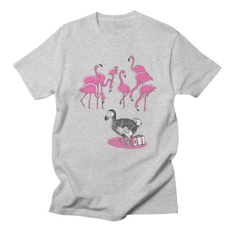 and the Flamingoes Celebrated Men's T-Shirt by John D-C's Artist Shop