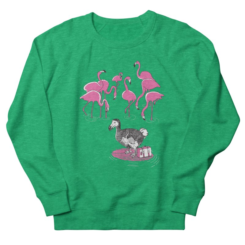 and the Flamingoes Celebrated Women's Sweatshirt by John D-C's Artist Shop