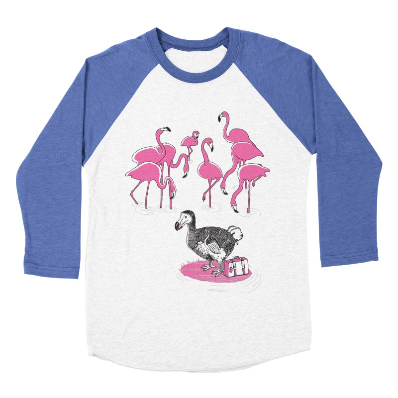 and the Flamingoes Celebrated Women's Baseball Triblend Longsleeve T-Shirt by John D-C