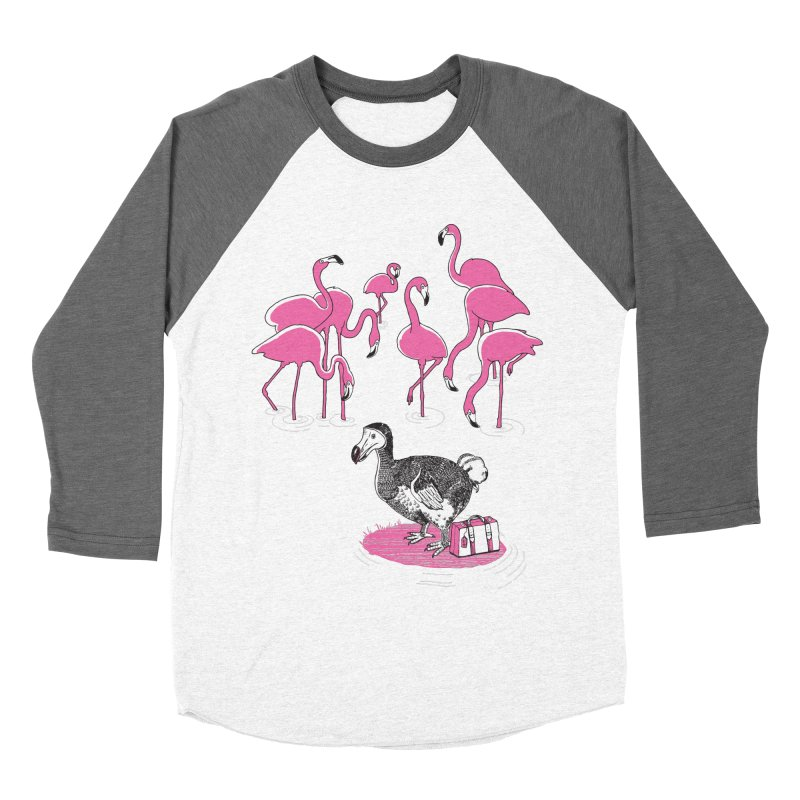 and the Flamingoes Celebrated Men's Baseball Triblend Longsleeve T-Shirt by John D-C