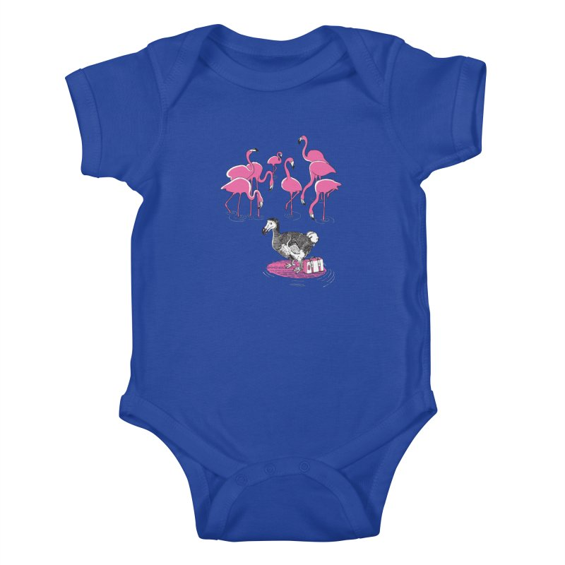 and the Flamingoes Celebrated Kids Baby Bodysuit by John D-C