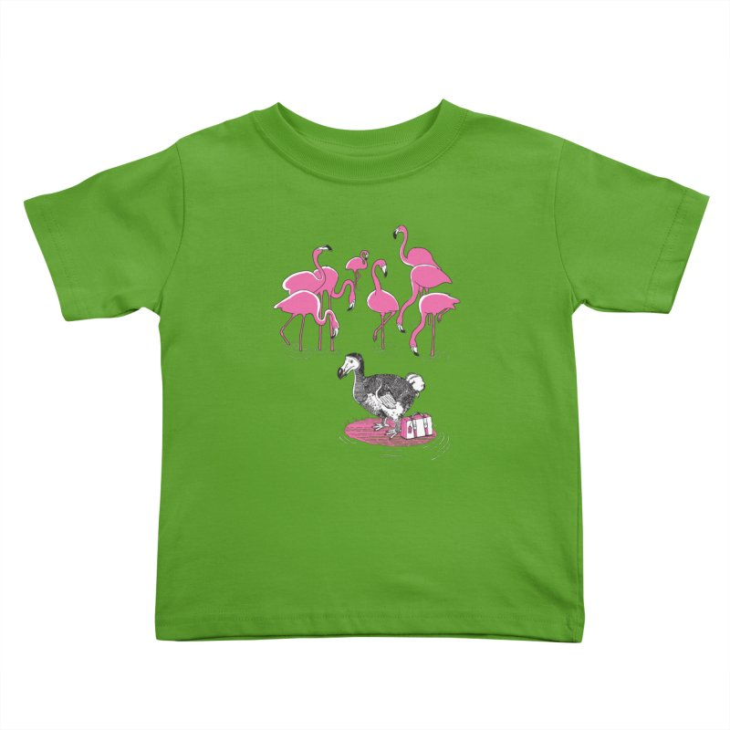and the Flamingoes Celebrated Kids Toddler T-Shirt by John D-C