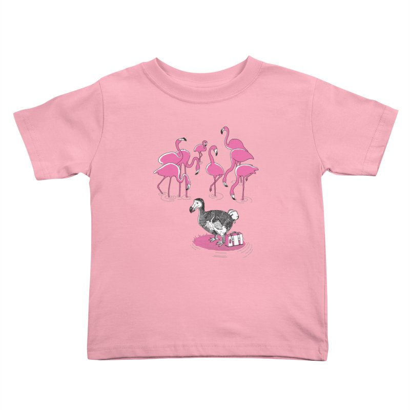 and the Flamingoes Celebrated Kids Toddler T-Shirt by John D-C's Artist Shop
