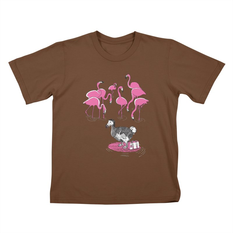 and the Flamingoes Celebrated Kids T-Shirt by John D-C