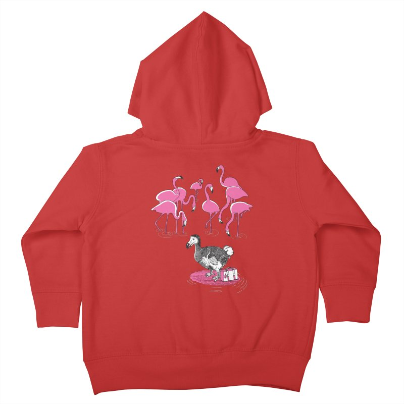 and the Flamingoes Celebrated Kids Toddler Zip-Up Hoody by John D-C