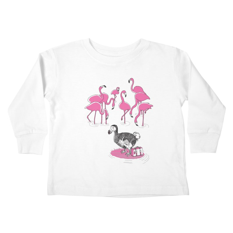 and the Flamingoes Celebrated Kids Toddler Longsleeve T-Shirt by John D-C