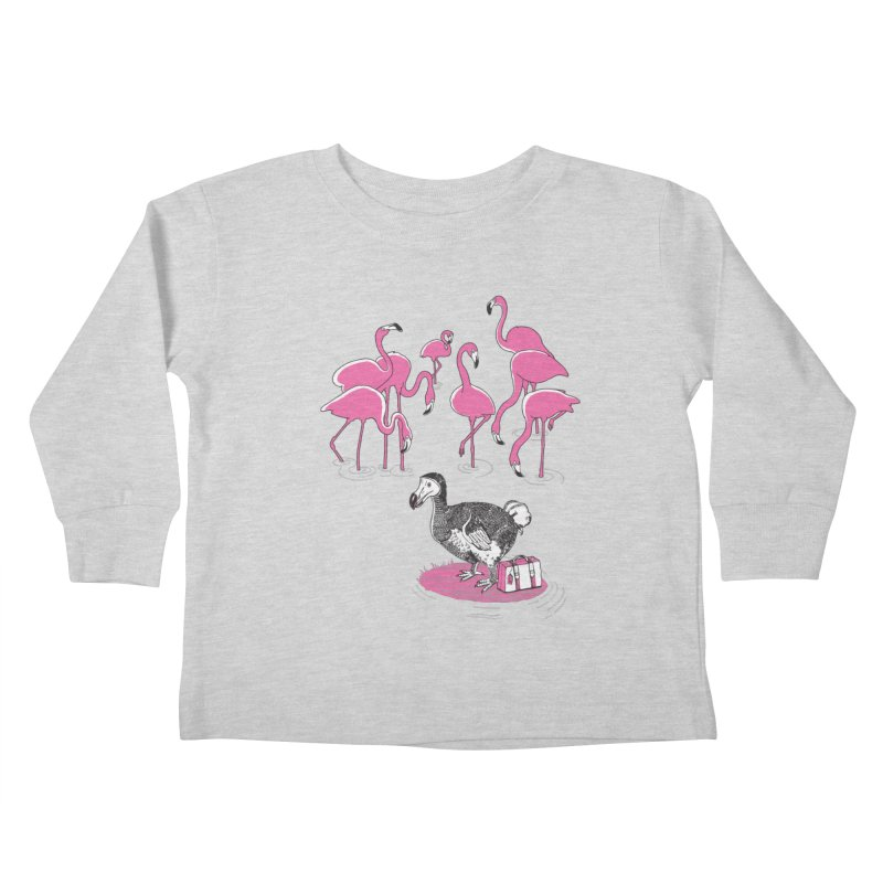 and the Flamingoes Celebrated Kids Toddler Longsleeve T-Shirt by John D-C's Artist Shop