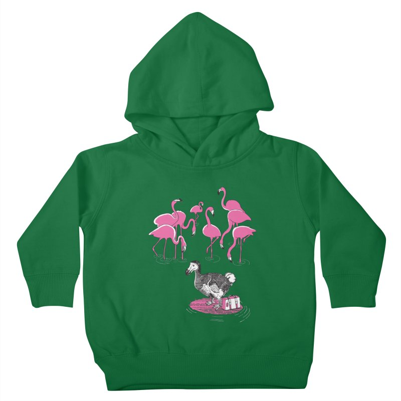 and the Flamingoes Celebrated Kids Toddler Pullover Hoody by John D-C's Artist Shop