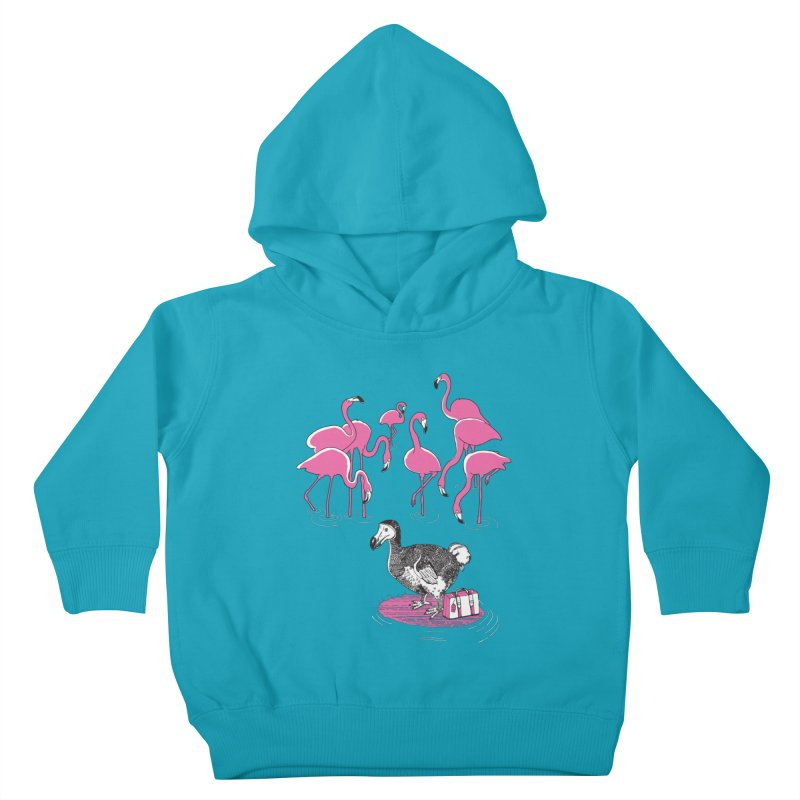 and the Flamingoes Celebrated Kids Toddler Pullover Hoody by John D-C