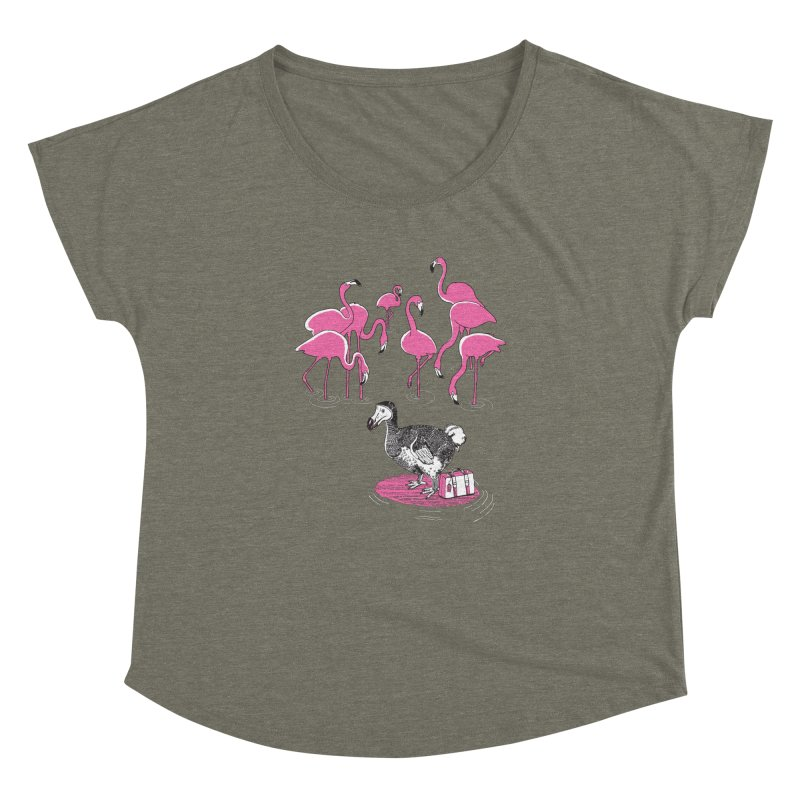 and the Flamingoes Celebrated Women's Dolman Scoop Neck by John D-C