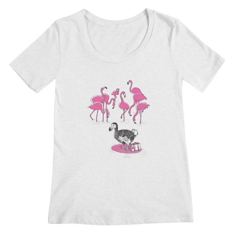 and the Flamingoes Celebrated Women's Regular Scoop Neck by John D-C