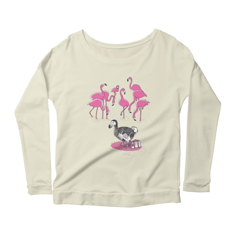 and the Flamingoes Celebrated Women's Scoop Neck Longsleeve T-Shirt by John D-C