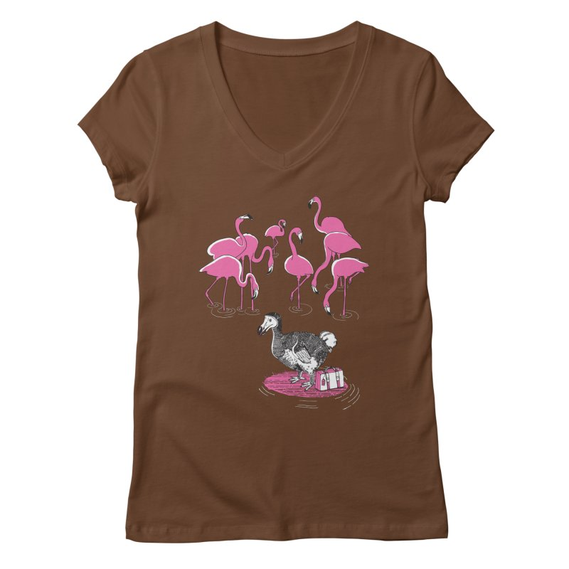 and the Flamingoes Celebrated Women's Regular V-Neck by John D-C
