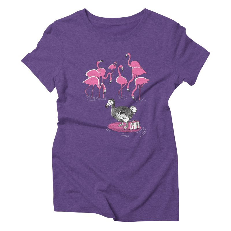 and the Flamingoes Celebrated Women's Triblend T-shirt by John D-C's Artist Shop