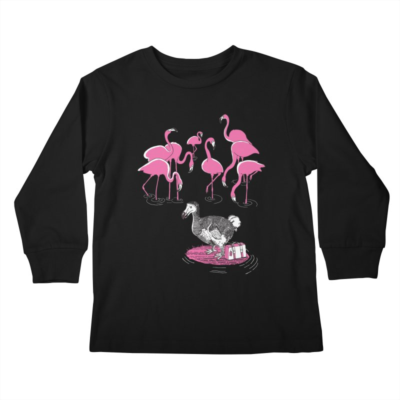 and the Flamingoes Celebrated Kids Longsleeve T-Shirt by John D-C