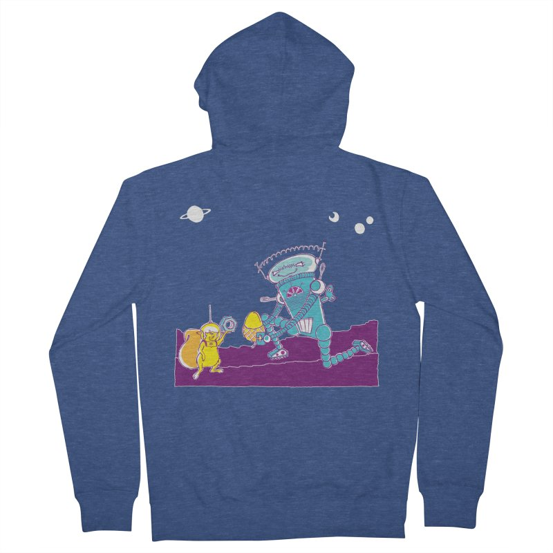Nuts! You've Got My Nuts, I've Got Yours! Men's French Terry Zip-Up Hoody by John D-C's Artist Shop