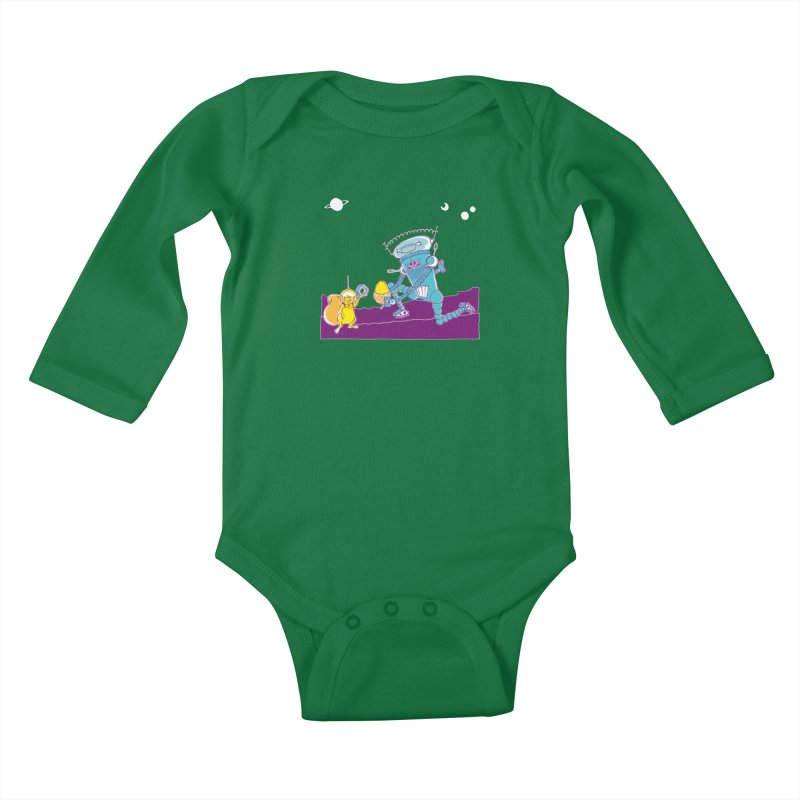 Nuts! You've Got My Nuts, I've Got Yours! Kids Baby Longsleeve Bodysuit by John D-C