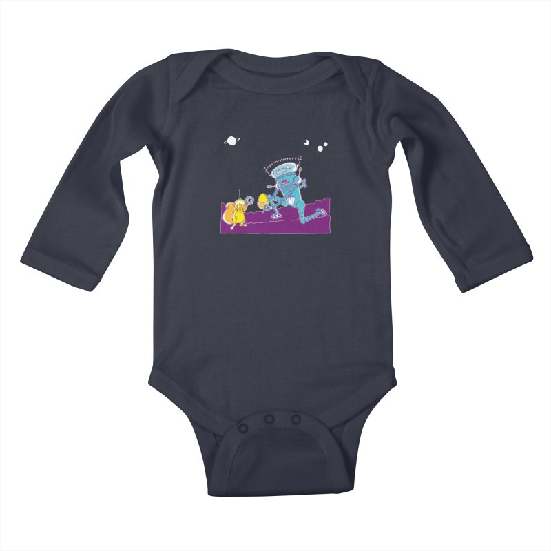 Nuts! You've Got My Nuts, I've Got Yours! Kids Baby Longsleeve Bodysuit by John D-C's Artist Shop