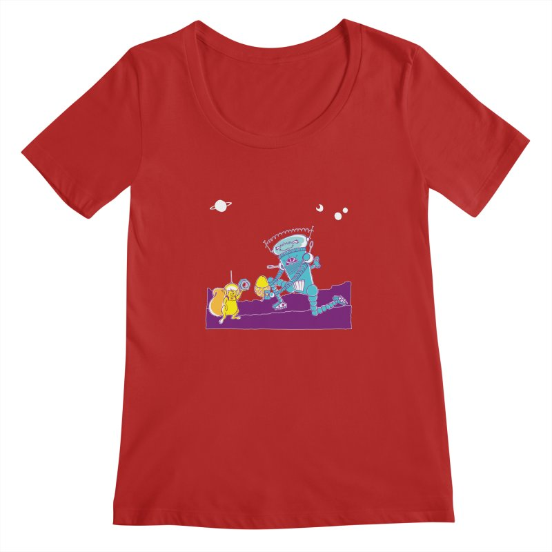 Nuts! You've Got My Nuts, I've Got Yours! Women's Scoopneck by John D-C's Artist Shop