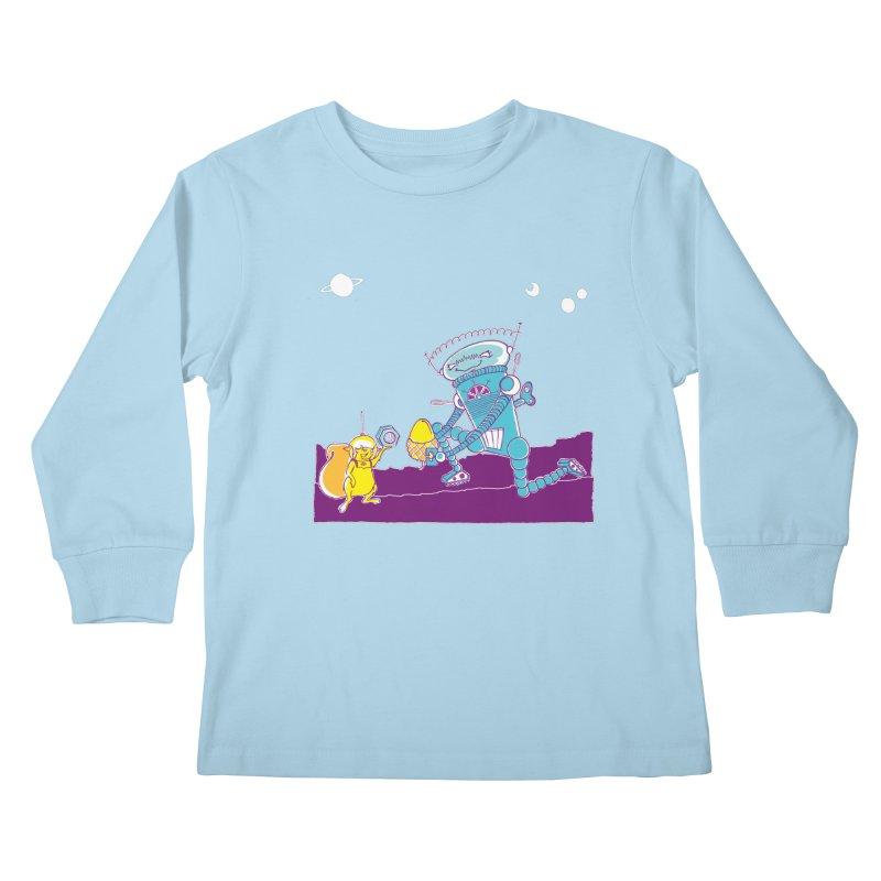 Nuts! You've Got My Nuts, I've Got Yours! Kids Longsleeve T-Shirt by John D-C's Artist Shop