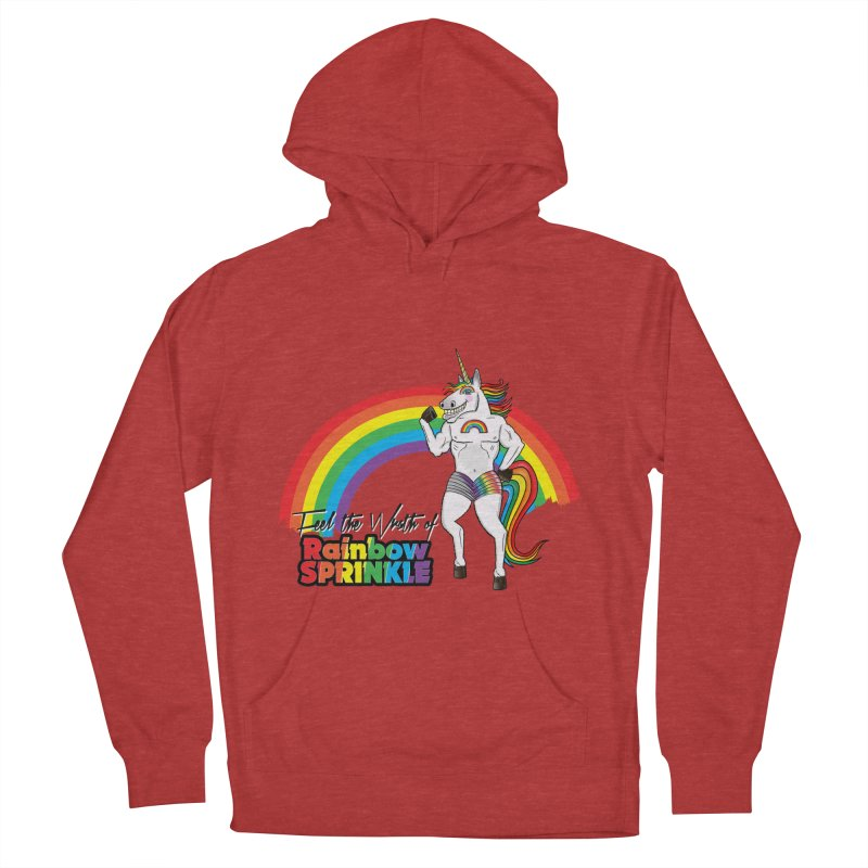 Feel The Wrath Of Rainbow Sprinkle Women's French Terry Pullover Hoody by John D-C's Artist Shop