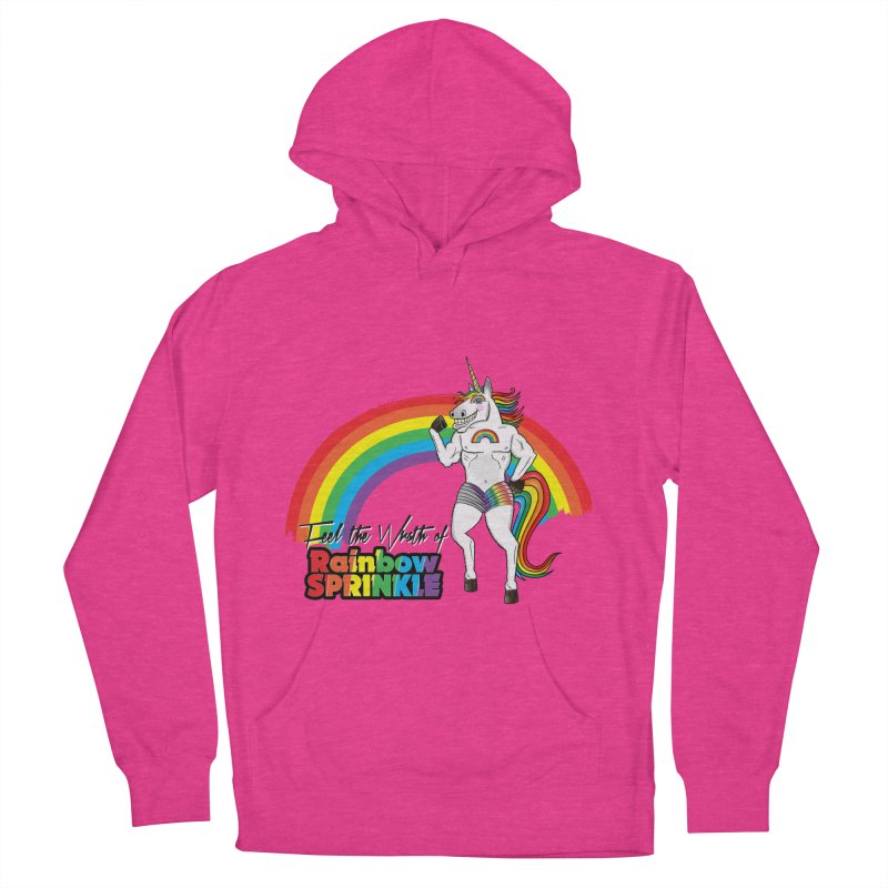 Feel The Wrath Of Rainbow Sprinkle Men's French Terry Pullover Hoody by John D-C's Artist Shop