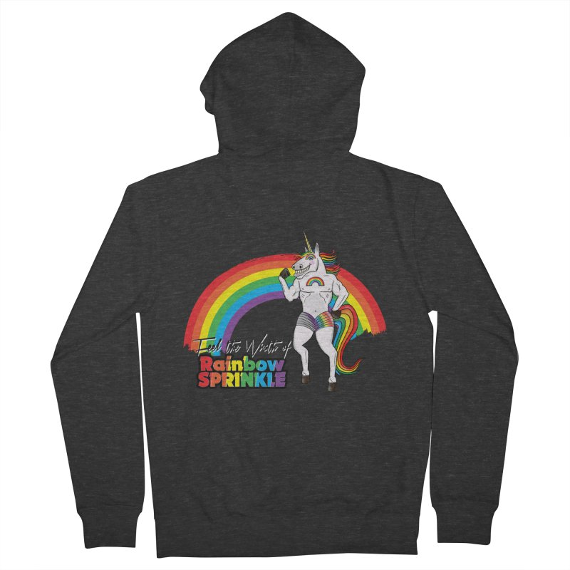 Feel The Wrath Of Rainbow Sprinkle Women's French Terry Zip-Up Hoody by John D-C