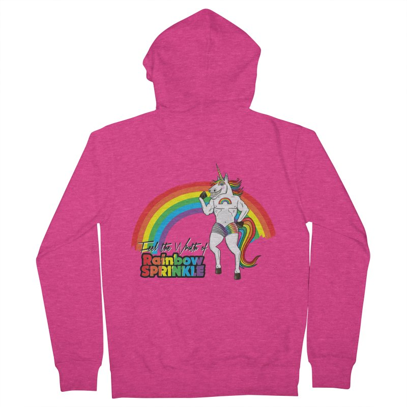 Feel The Wrath Of Rainbow Sprinkle Women's Zip-Up Hoody by John D-C's Artist Shop