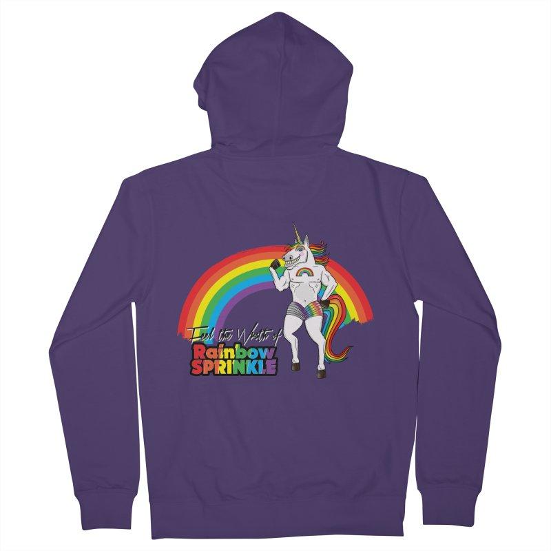 Feel The Wrath Of Rainbow Sprinkle Women's Zip-Up Hoody by John D-C's Artist Shop