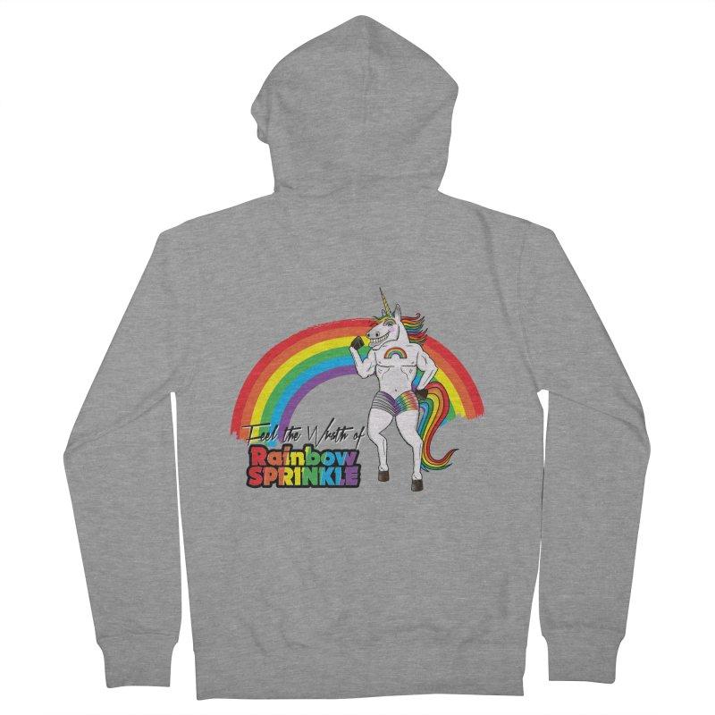 Feel The Wrath Of Rainbow Sprinkle Men's Zip-Up Hoody by John D-C's Artist Shop