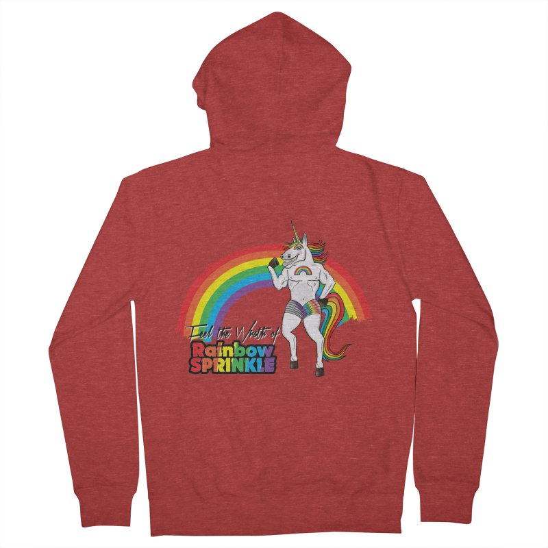 Feel The Wrath Of Rainbow Sprinkle Men's French Terry Zip-Up Hoody by John D-C's Artist Shop