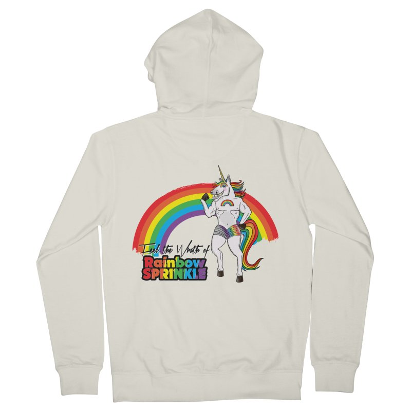 Feel The Wrath Of Rainbow Sprinkle Men's French Terry Zip-Up Hoody by John D-C