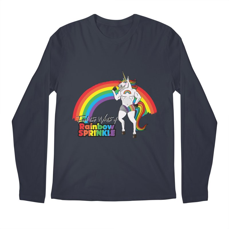 Feel The Wrath Of Rainbow Sprinkle Men's Regular Longsleeve T-Shirt by John D-C