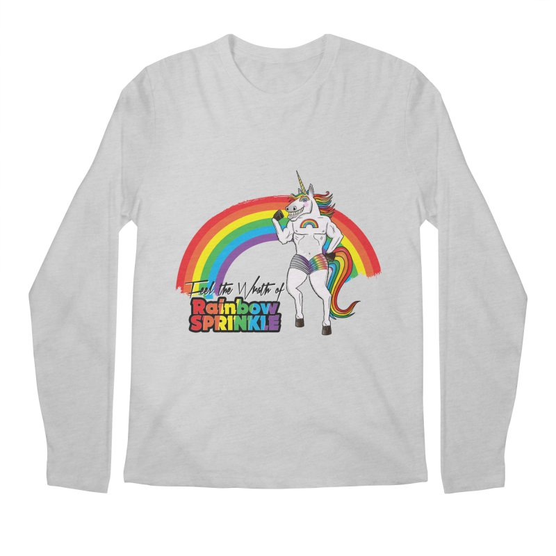 Feel The Wrath Of Rainbow Sprinkle Men's Longsleeve T-Shirt by John D-C's Artist Shop