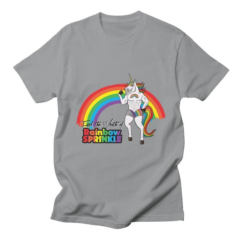 Feel The Wrath Of Rainbow Sprinkle Men's Regular T-Shirt by John D-C's Artist Shop